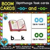 Boom Cards | Diphthongs OO (as in book) -OO (as in moon) Cards