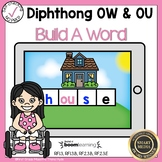 Boom Cards Diphthongs OW and OU Build a Word