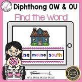 Boom Cards Diphthongs OW and OU Find the Word