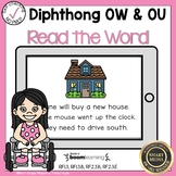 Boom Cards Diphthongs OW and OU Read the Word