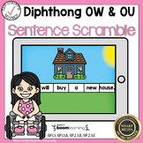 Boom Cards Diphthongs OW and OU Sentence Scrambles