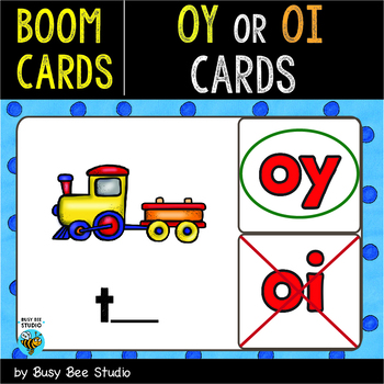 Boom Cards | Diphthongs OY - OI Cards