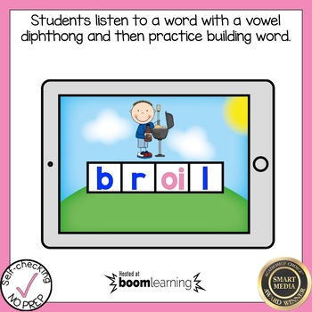 Boom Cards Diphthongs oi and oy Build a Word