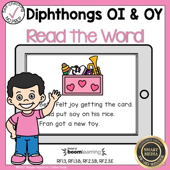 Boom Cards Diphthongs oi and oy Read the Word