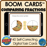 Boom Cards™ Distance Learning - Cookie Comparing Fractions