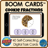 Boom Cards™ Distance Learning - Cookie Fractions