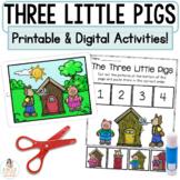 Three Little Pigs Boom Cards™   Digital & Printable Fairy Tale Retell Activities