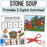 Stone Soup   Digital Boom Cards™ & Printable Fairy Tale Retell Activities