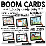 Literacy Boom Cards™ Distance Learning Task Cards Bundle