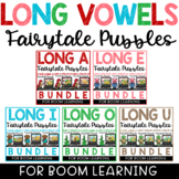 Boom Cards Distance Learning Long Vowels Puzzles Bundle Fa