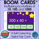 Boom Cards™ Distance Learning - Multiplying by Multiples of 10, 100, and 1000