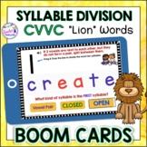 BOOM CARD Reading Strategies : Syllable Division Rules CVV