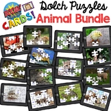 Boom Cards - Dolch Sight Word Puzzle Bundle (Animals) - Di