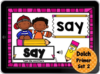 Boom Cards Dolch Sight Words - Write It