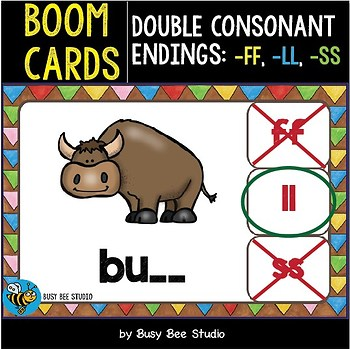 Boom Cards | Double Consonant Endings -ff, -ll, -ss