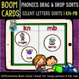 Boom Cards | Drag and Drop Sorts | Silent Letters (mb-kn)