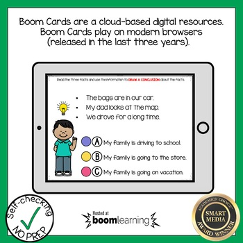 Boom Cards Drawing Conclusions Reading Comprehension