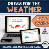 Dress for the Weather & Seasons BOOM CARDS - Digital Inter