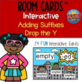 Boom Cards™ - Drop the Y Adding Suffix Digital Distance Learning