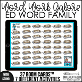 Boom Cards - ED Word Family Work for Distance Learning