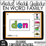 Boom Cards - EN Word Family Galore Work for Distance Learning