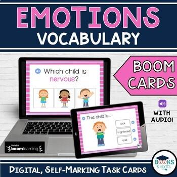 Boom Cards: ESL Vocab - Emotions