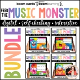 Boom Cards Ear Training Bundle: Feed the Music Monster Tre