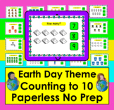 Boom Cards™ Earth Day Math Counting to 10 - Click/Touch the Answer