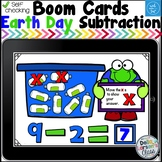 Boom Cards Earth Day Subtraction