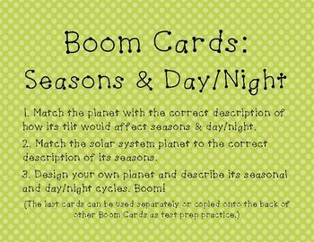 Boom Cards: Earth's Tilt & Seasons set (Google Classroom)