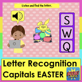 Boom Cards Easter Alphabet Capital Letter Recognition With