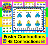 Boom Cards Easter Contractions:  Interactive, Paperless, Self-Correcting No Prep
