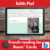 Boom Cards™ - Edith Piaf reading for French learners