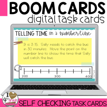 Boom Cards Elapsed Time using a Number Line