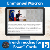 Boom Cards™ - Emmanuel Macron reading for French learners