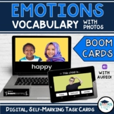 Boom Cards: Emotions & Feelings Vocabulary with Photos
