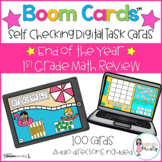 Boom Cards™  End of the Year 1st Grade Math Review