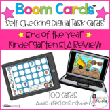 Boom Cards™  End of the Year Kindergarten ELA Review