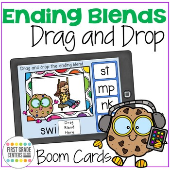 Boom Cards Ending Blends Drag and Drop