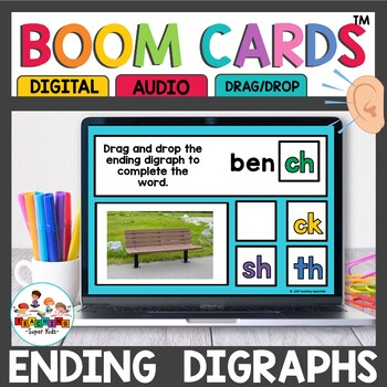 Boom Cards Ending Digraphs ch sh tch th wh