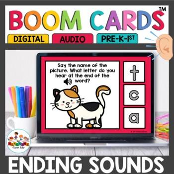 Boom Cards Ending Sound Recognition