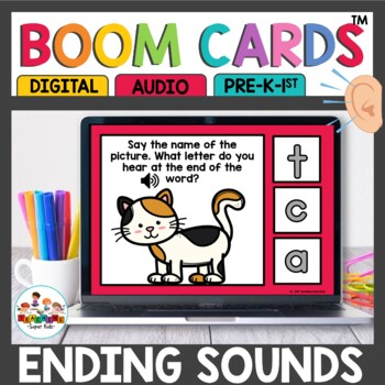 CVC Ending Sound Recognition Boom Cards