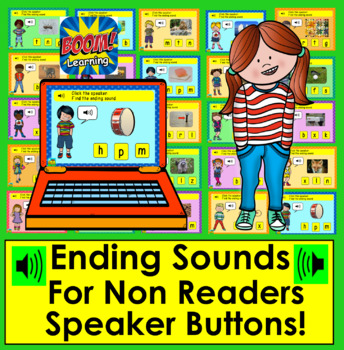 Boom Cards™ - Ending Sounds - Real Objects Photographs - With Sound