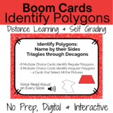 Boom Cards-Identify Polygons Distance Learning Task Cards-