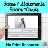 Boom™ Cards Faces and Statements Nonverbal Verbal Communication Matching