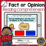 Boom Cards Fact or Opinion Reading Comprehension