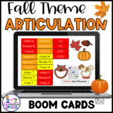 Boom Cards: Fall Fun Early Sounds (Articulation)