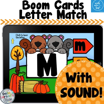 Boom Cards Fall Letter Match