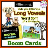 Boom Cards Fall | Long Vowels | Short Vowels | Fall Word Sorts |