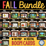 Boom Cards™ Fall Math & Literacy Bundle DISTANCE LEARNING